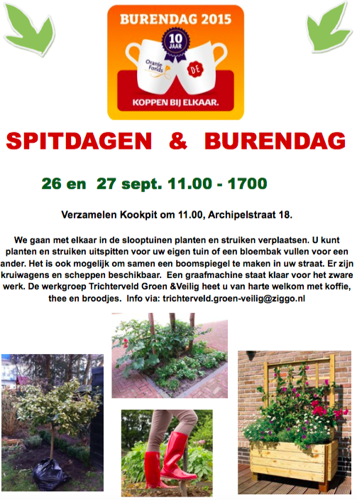 Kom op 26 en 27 september spitten in Trichterveld!